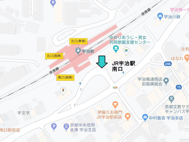 JR宇治駅前送迎バス乗り場
