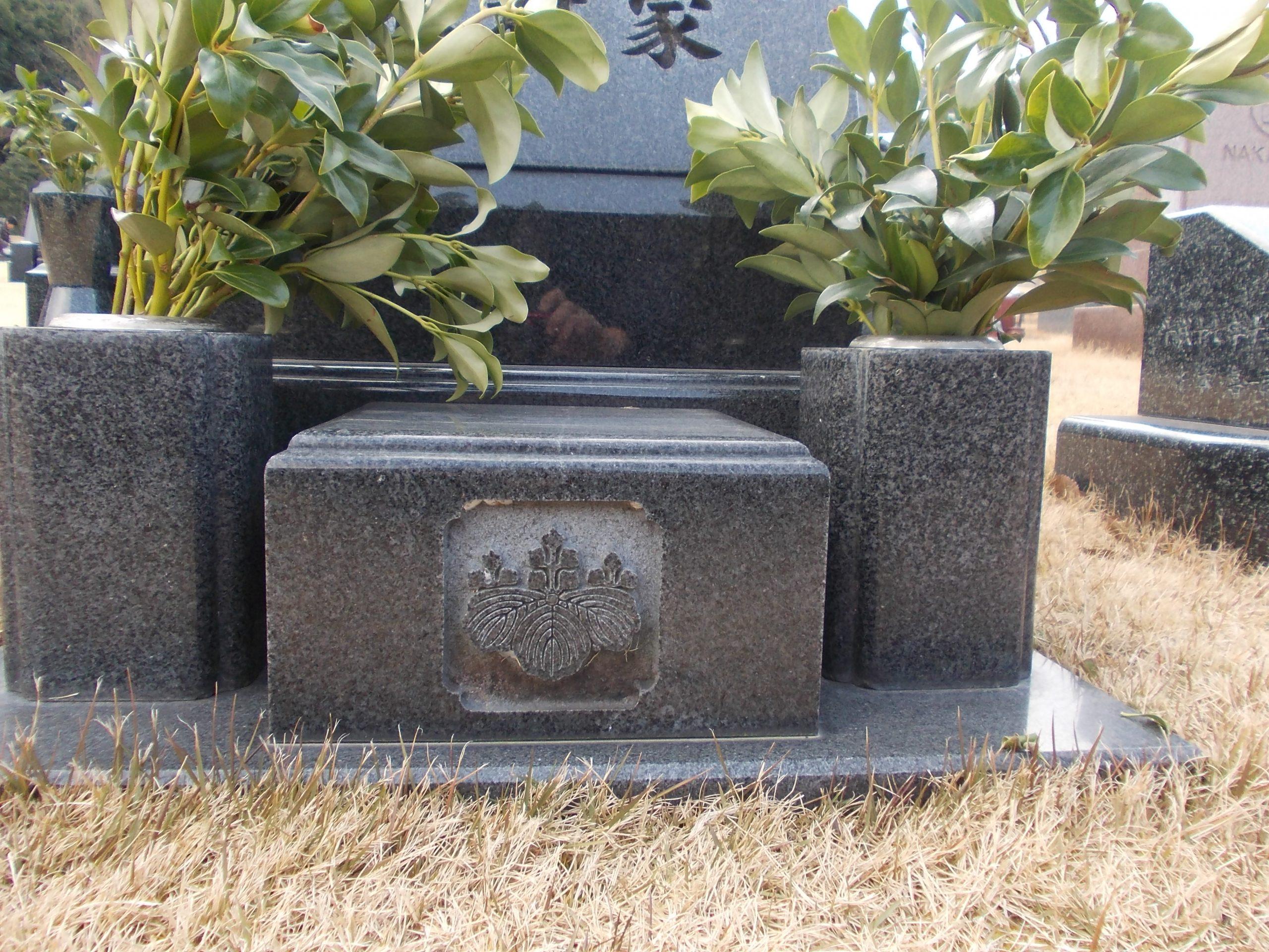 五三桐の家紋をお墓に彫刻:京都天が瀬メモリアル公園