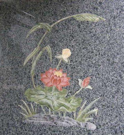 石の象嵌加工:京都天が瀬メモリアル公園